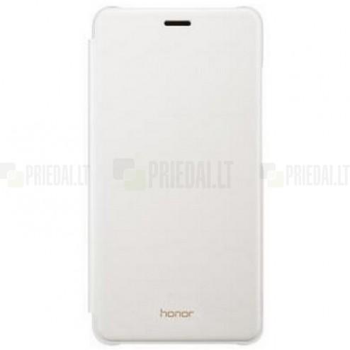 Oficialus Huawei Honor 5c (Honor 7 Lite) Flip Cover baltas atverčiamas dėklas - knygutė