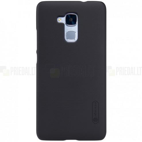 Huawei Honor 5c (Honor 7 Lite) Nillkin Frosted Shield juodas plastikinis dėklas + apsauginė ekrano plėvelė