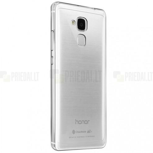 """Huawei Honor 5c ir Huawei Honor 7 Lite """"Bullet"""" skaidrus (permatomas) kieto silikono TPU ploniausias pasaulyje bespalvis dėklas"""