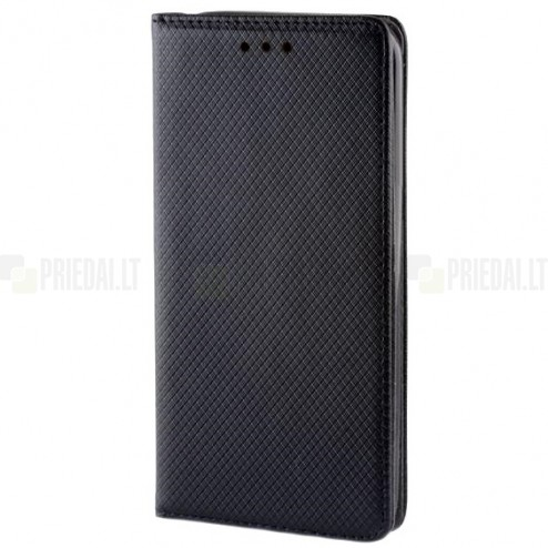"""Huawei Honor 5c (Huawei Honor 7 Lite) """"Bullet"""" solidus atverčiamas juodas odinis dėklas - knygutė"""