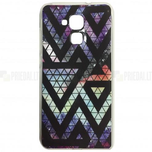 """""""Pattern"""" raštuotas violetinis kieto silikono Huawei Honor 5c (Honor 7 Lite) dėklas"""