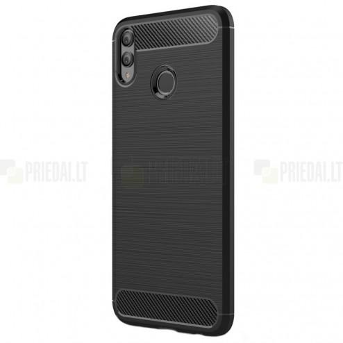 """Huawei Honor 8X """"Carbon"""" kieto silikono TPU juodas dėklas - nugarėlė"""