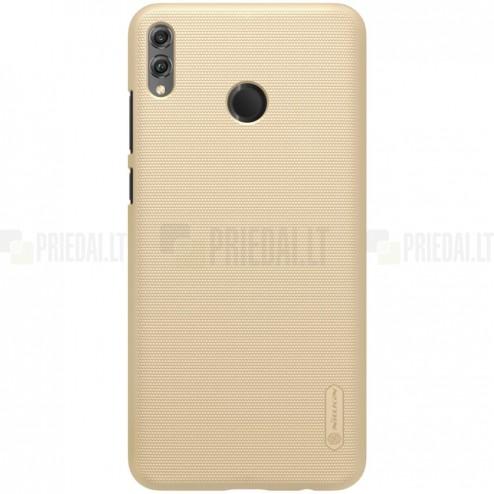 Huawei Honor 8X Nillkin Frosted Shield auksinis plastikinis dėklas