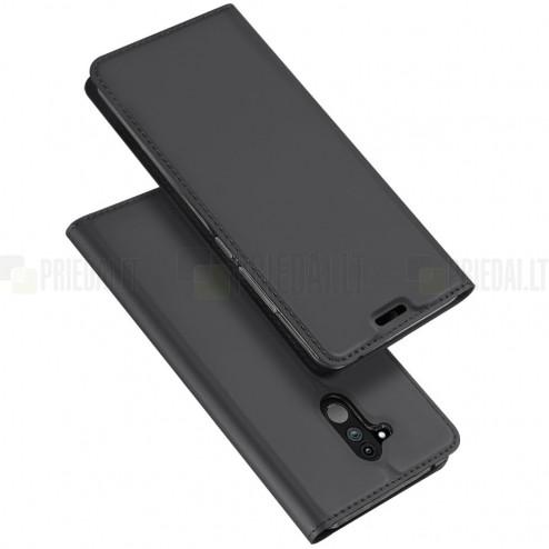 """Dux Ducis"""" Skin serijos Huawei Mate 20 Lite juodas odinis atverčiamas dėklas"""