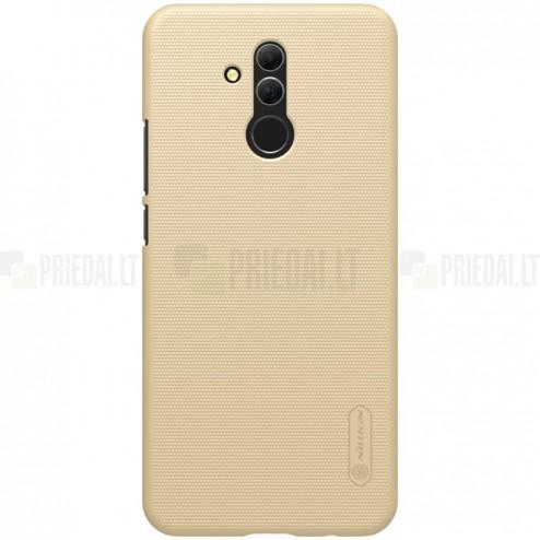 Huawei Mate 20 Lite Nillkin Frosted Shield auksinis plastikinis dėklas