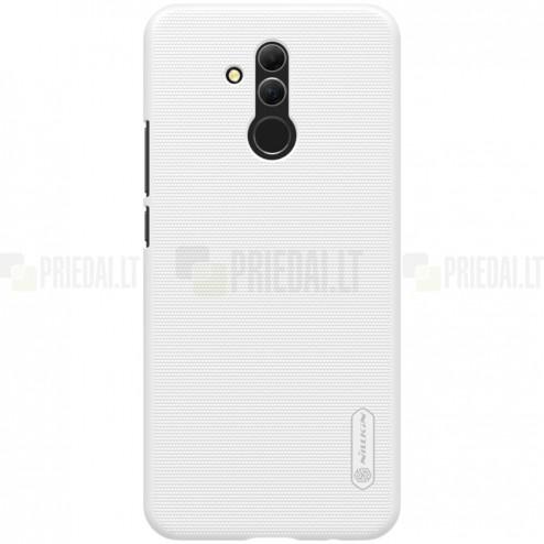 Huawei Mate 20 Lite Nillkin Frosted Shield baltas plastikinis dėklas