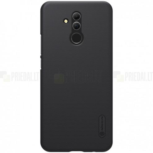 Huawei Mate 20 Lite Nillkin Frosted Shield juodas plastikinis dėklas