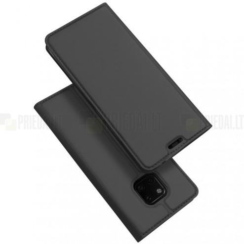 """Dux Ducis"""" Skin serijos Huawei Mate 20 Pro juodas odinis atverčiamas dėklas"""