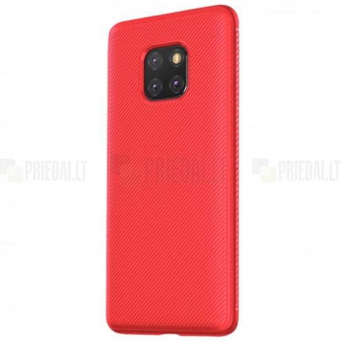 """Huawei Mate 20 Pro """"Lenuo"""" kieto silikono TPU raudonas dėklas - nugarėlė"""