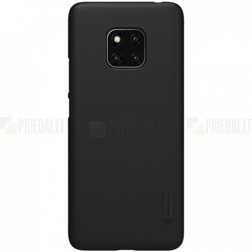 Huawei Mate 20 Pro Nillkin Frosted Shield juodas plastikinis dėklas