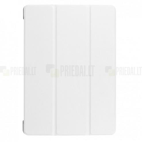 Huawei MediaPad T3 10 atverčiamas baltas odinis dėklas - knygutė