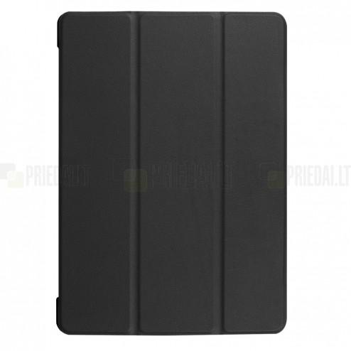 Huawei MediaPad T3 10 atverčiamas juodas odinis dėklas - knygutė