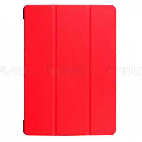 Huawei MediaPad T3 10 atverčiamas raudonas odinis dėklas - knygutė