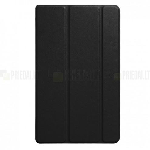 Huawei MediaPad T3 8.0 atverčiamas juodas odinis dėklas - knygutė