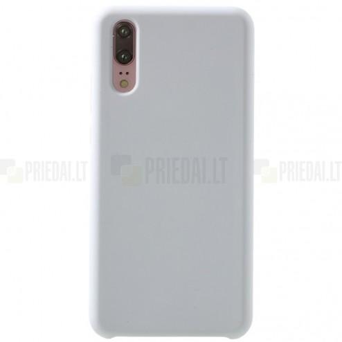 Huawei P20 Shell kieto silikono (TPU) baltas juodas - nugarėlė