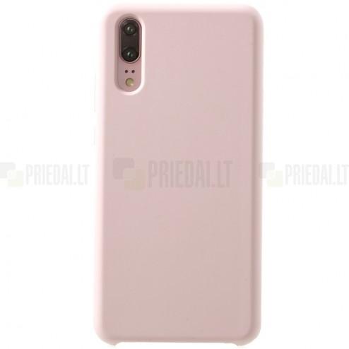 Huawei P20 Shell kieto silikono (TPU) rožinis juodas - nugarėlė
