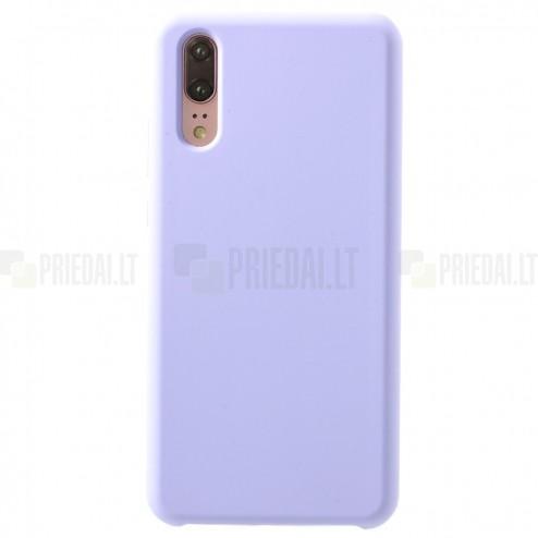 Huawei P20 Shell kieto silikono (TPU) violetinis juodas - nugarėlė
