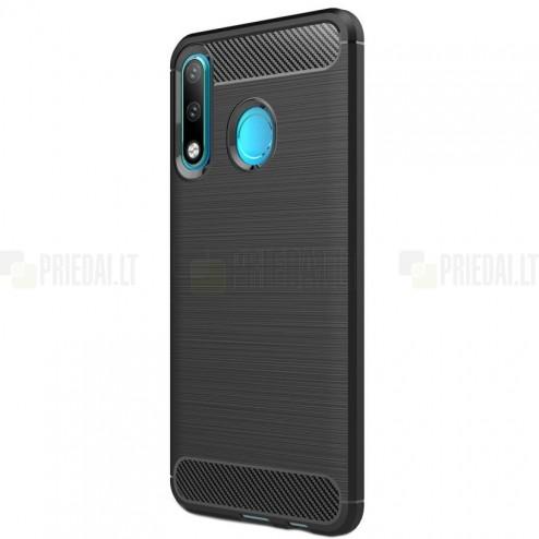 """Huawei P30 Lite """"Carbon"""" kieto silikono TPU juodas dėklas - nugarėlė"""