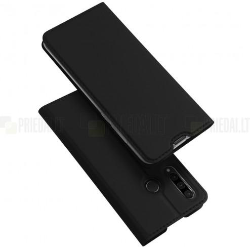 """""""Dux Ducis"""" Skin serijos Huawei P30 Lite juodas odinis atverčiamas dėklas"""
