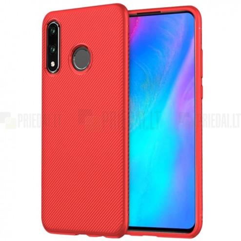 """Huawei P30 Lite """"Lenuo"""" kieto silikono TPU raudonas dėklas - nugarėlė"""