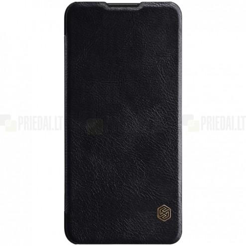 """Prabangus """"Nillkin"""" Qin serijos juodas odinis atverčiamas Huawei P30 Lite dėklas - knygutė"""