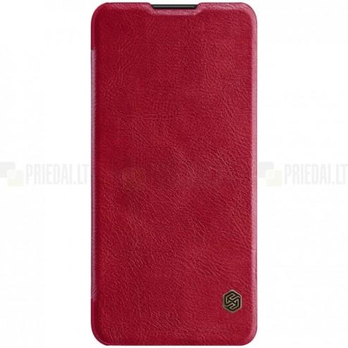 """Prabangus """"Nillkin"""" Qin serijos raudonas odinis atverčiamas Huawei P30 Lite dėklas - knygutė"""