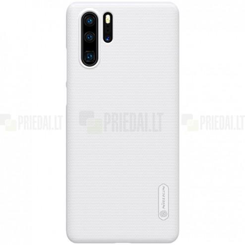 Nillkin Frosted Shield Huawei P30 Pro baltas plastikinis dėklas