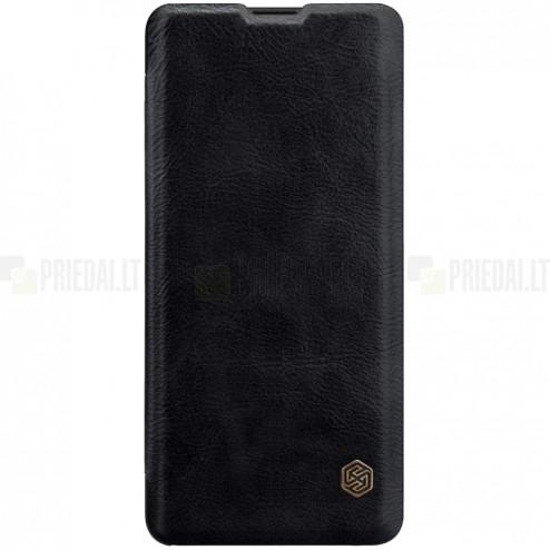 """Prabangus """"Nillkin"""" Qin serijos juodas odinis atverčiamas Huawei P30 Pro dėklas - knygutė"""