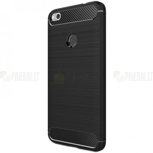 Huawei P9 Lite 2017 Carbon kieto silikono TPU juodas dėklas - nugarėlė