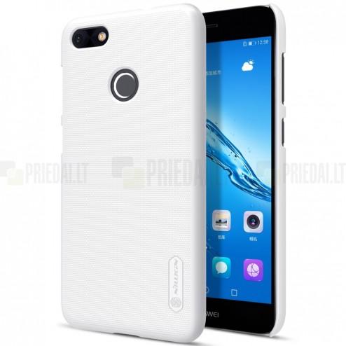Nillkin Frosted Shield Huawei P9 Lite Mini (Y6 Pro 2017) baltas plastikinis dėklas + apsauginė ekrano plėvelė