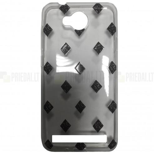 """Rhombus"" raštuotas skaidrus kieto silikono Huawei Y3 II (Huawei Y3 2) dėklas"