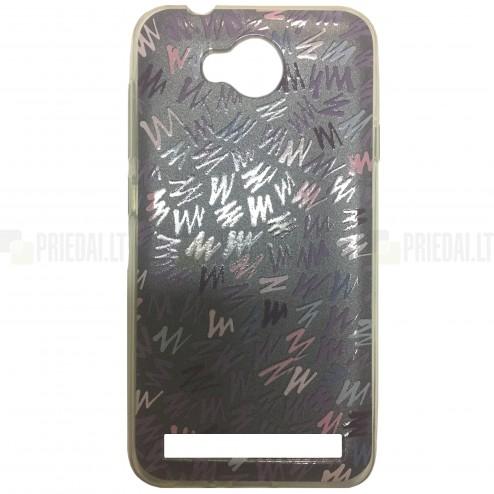 """""""Pattern"""" raštuotas pilkas kieto silikono Huawei Y3 II (Huawei Y3 2) dėklas"""