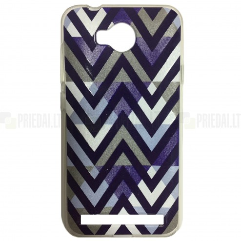 """""""Pattern"""" raštuotas violetinis kieto silikono Huawei Y3 II (Huawei Y3 2) dėklas"""
