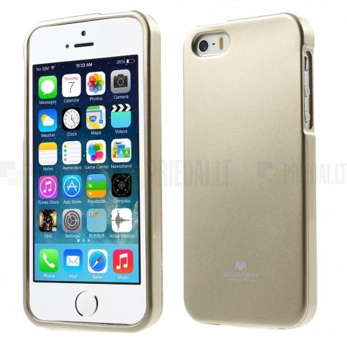 Apple iPhone SE (5, 5s) auksinis Mercury kieto silikono (TPU) dėklas