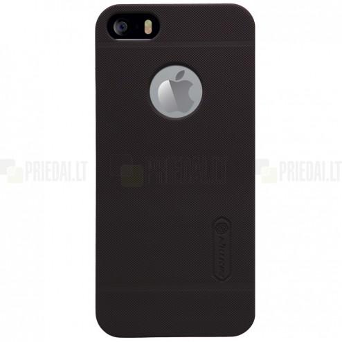 """Rudas """"Nillkin"""" Frosted Shield serijos Apple iPhone SE (5, 5s) dėklas (dėkliukas) su apsaugine ekrano plėvele"""