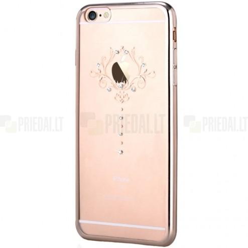 Apple iPhone 6s Devia Iris Diamond silikoninis skaidrus permatomas auksinis dėklas su kristalais