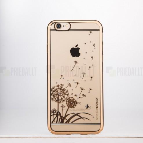 Apple iPhone 6 (6s) JOYROOM Dandelion Field plastikinis skaidrus permatomas auksinis dėklas su kristalais