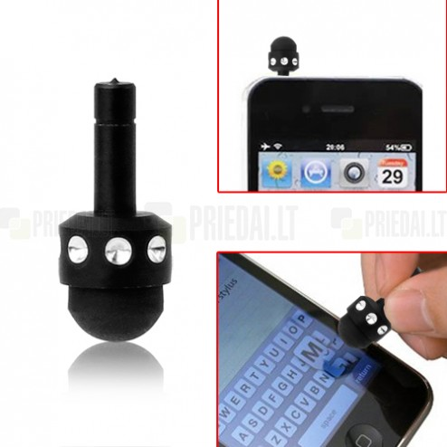 Juodas mikro liestukas (angl. mikro Stylus Pen)