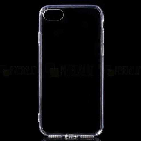 Apple iPhone 7 (iPhone 8) skaidrus (permatomas) akrilinis kieto silikono TPU plonas (akrilo) dėklas - nugarėlė