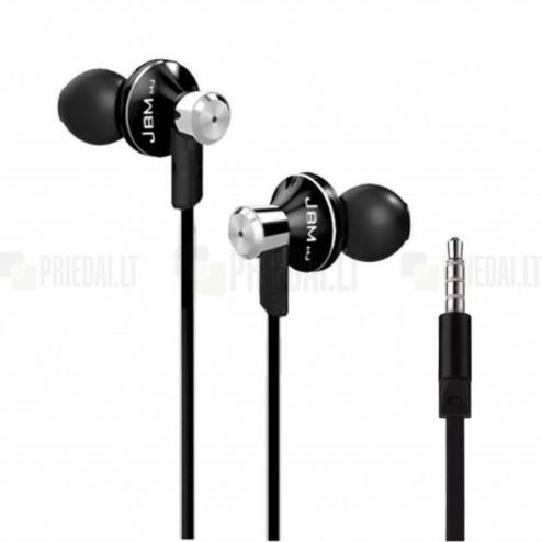 """""""JBM MJ"""" MJ9013 juodos įkišamos į ausis ausinės (laisvų rankų įranga)"""