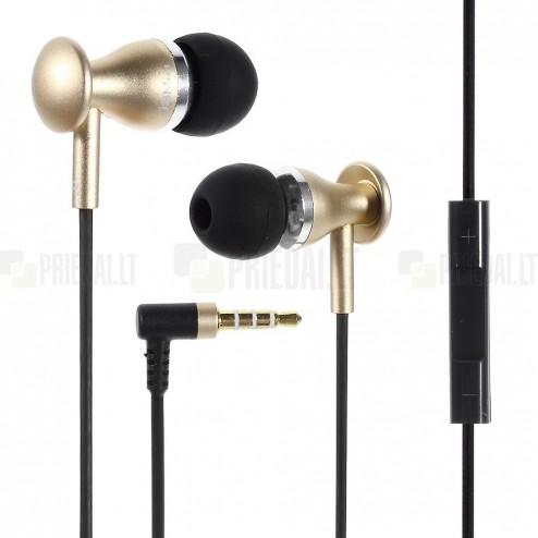 """""""JBM MJ"""" MJ9600 auksinės įkišamos į ausis ausinės (laisvų rankų įranga)"""