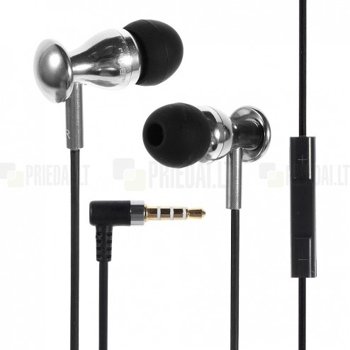 """""""JBM MJ"""" MJ9600 sidabrinės įkišamos į ausis ausinės (laisvų rankų įranga)"""