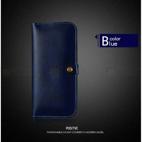 "Solidi ""JLW"" mėlyna odinė universali įmautė - piniginė (XL dydis)"