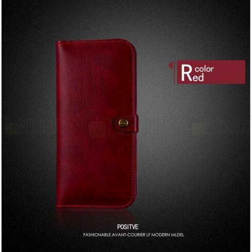 """Solidi """"JLW"""" raudona odinė universali įmautė - piniginė (XL dydis)"""