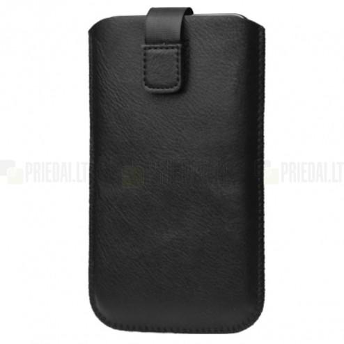 Universali juoda odinė įmautė - dėklas (XL dydis)