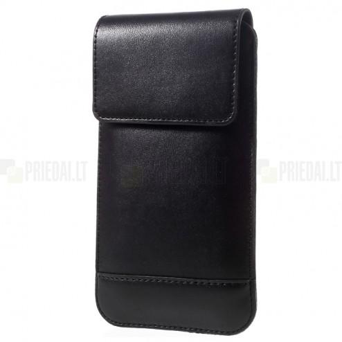 Carabiner universali juoda odinė įmautė (XL+ dydis)