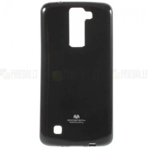 LG K8 juodas Mercury kieto silikono (TPU) dėklas - nugarėlė