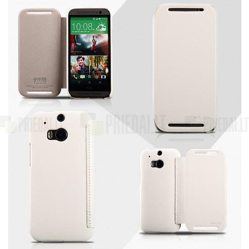 """""""Kalaideng"""" Enland HTC One M8 baltas odinis atverčiamas dėklas"""