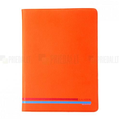 """""""Kalaideng"""" Versal oranžinis odinis universalus atverčiamas planšetės dėklas - piniginė, tinkantis 10.1"""" planšetėms"""