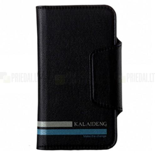 """""""Kalaideng"""" Versal universalus juodas odinis telefono dėklas telefonas iki 4,2"""" colių"""